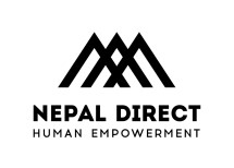 logo slogan Nepal direct black png215x154